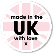 Made in the United Kingdom with love. x