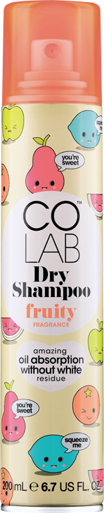 Fruity COLAB Dry Shampoo can