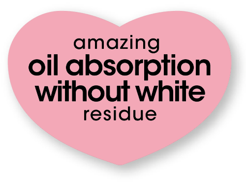 amazing oil absorption without white residue