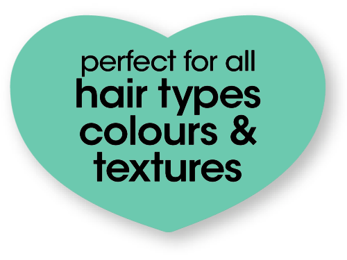 perfect for all hair types colours and textures